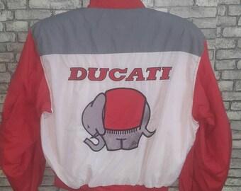 Vintage rare ducati embroidery jacket/yamaha/honda/suzuki/aprillia