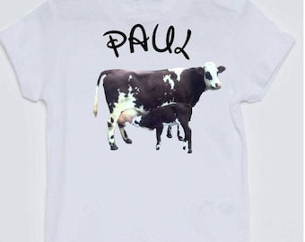 T-shirt boy transfer cow and her calf