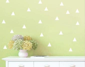 20 Stickers wall white triangle