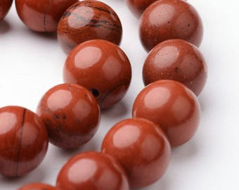 Red Jasper bead natural ø10mm * to the unit *.