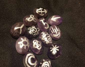 Small Amethyst Witch Runes