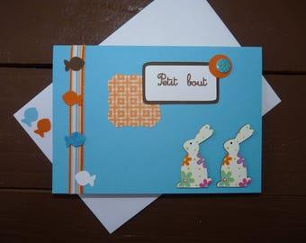 "Double ""Bit"" birth congratulations card"