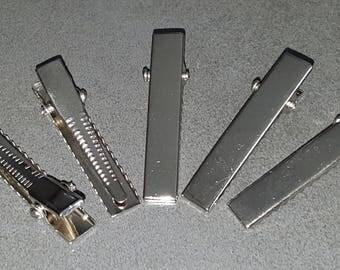 100 crocodile clips silver 46 mm aligator clip decorate clips silver clips Alligator Clips