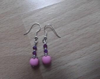 Swarovski pearl earrings, handmade.