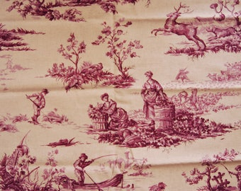 Toile de Jouy, Olivier Thevenon, fabric for upholstery fabric, french fabric, fabric, linen and purple