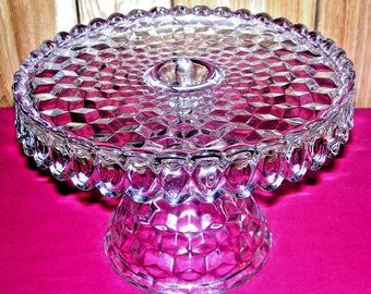 Fostoria American Clear Old Style Cake Stand