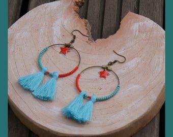 """hoop earrings """"summer"""""""