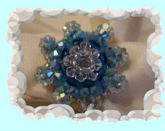 Swarovski crystal Starfish by riviera-pearl ring