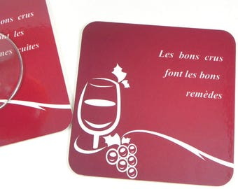 Below original glass coaster coaster good wines make good remedies