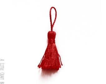10 tassels 4.5 cm - Red