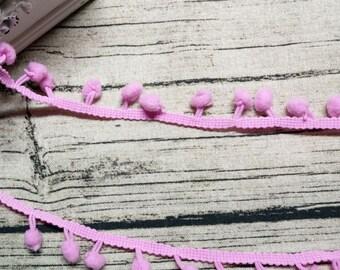 2 meters ribbons/trims pink tassels 09 x