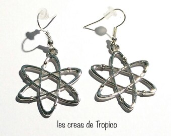 Atomic earrings, atoms and electrons