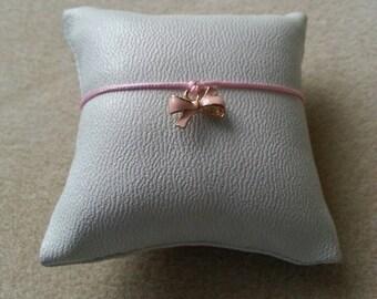 Bracelet adjustable knot tones pink enameled separator tender