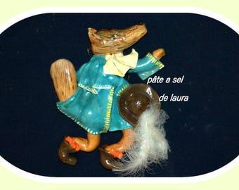 a Fox in salt dough