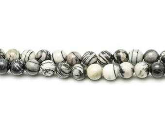 1 strand 39cm stone beads - Zebra Jasper 16mm balls