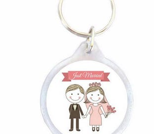 Just married 40mm key ring