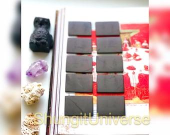 A set of 10 shungite EMF protecting tiles,Wholesale shungite price,Shungite plate,Healing stone,Shungit stone,Shungite crystal,Reiki stone