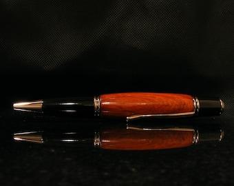 Beautiful Handcrafted Gatsby Gentleman's Pen in Chechen Wood with Gunmetal Trim