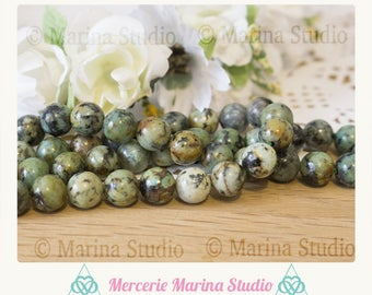 10 100% natural African turquoise beads