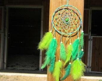 Green Dream Catcher / actual 35 cm