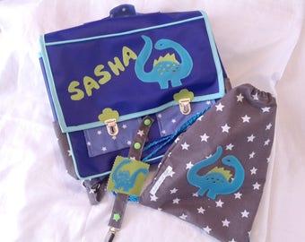 Cartable, sac à chaussons, attache-tétine, pack rentrée maternelle
