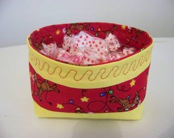 Christmas candy basket