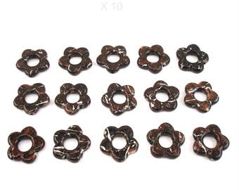 10 20 mm brown color acrylic flower beads