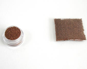 Pearls caviar glass copper bag of 10 grams