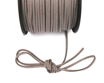 TAUPE 3 mm suede cord / 1.5 mm X 1 meter
