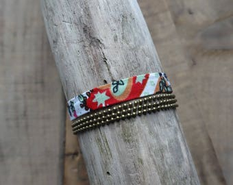 Bracelet multi row-Liberty and chain ball