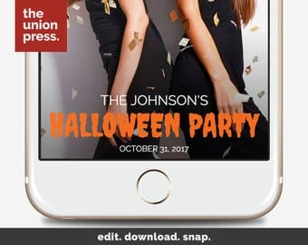 Halloween Party Filter - Halloween Snapchat Geofilter - Halloween Snapchat Filter