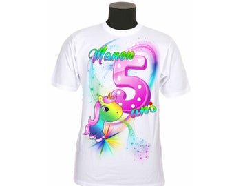 t-shirt kids birthday personalized with number and name choice ref year 04
