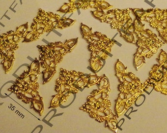 12 corners protection nail gold beautiful woodworking embellishment box chest trunk drawer 35 mm thick