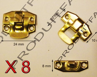Set of 8 clasps Laitone latch lock box treasure chest box 24 by 20 screws included