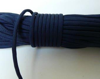 Corde paracord 550  bleu marine      4 mm 7 brins au metre