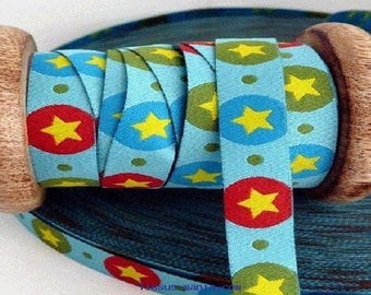 Ribbon star farbenmix 12mm by the yard