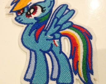 """""""My little pony"""" applique thermocollante 60/80 mm"""