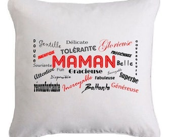 Pillow 35 X 35 words for MOM