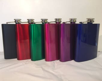 5 for 35! l Personalized 7oz Flask l Groomsmen Gift, Bachelor Gifts, Groomsman Flask, Bridal Party Gifts, Hip Flask
