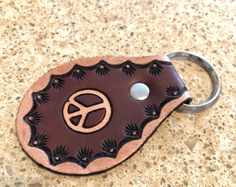 Handcrafted Leather Key Fob