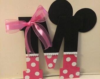 Minnie Mouse Custom Letter Decor