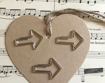 "Set of 6 paper clips ""arrows"""