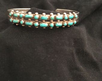 Small turquoise cuff bracelet