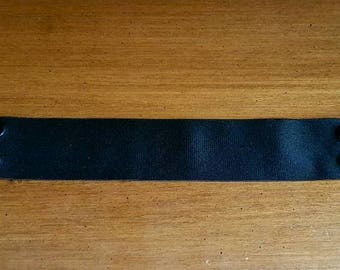 Black Satin Elastic Snap Belt