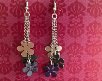 Earrings dangling flowers nespresso
