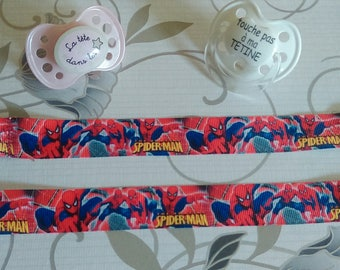 Sweet cotton two patterns, adjustable and elastic tie, Superman pattern