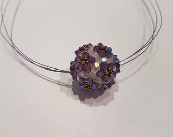 Swarovski Crystal and purple Crystal Ball pendant