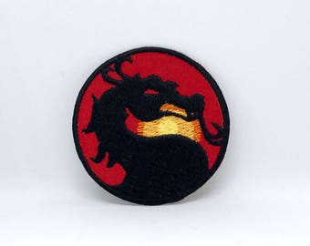 1211# MORTAL KOMBAT Classic Video Game Iron Sew on Embroidered Patch