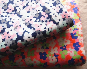 Japanese floral printed cotton sateen type Liberty 110 * 50 cm