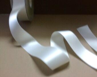 Satin ribbon white wide 2.5 cm